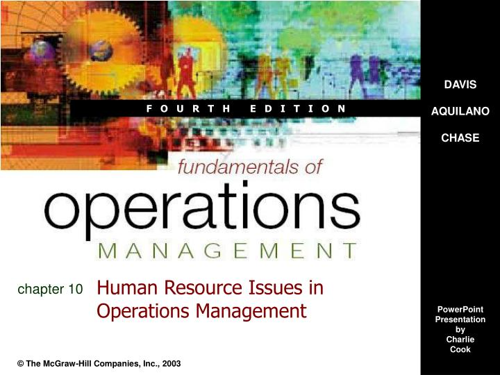 human resource issues in operations management n.