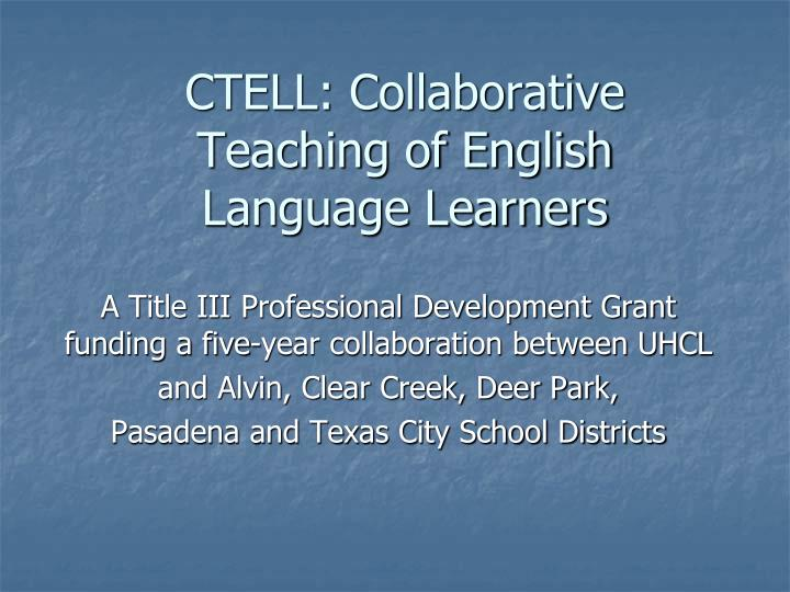ctell collaborative teaching of english language learners n.
