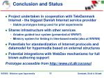 conclusion and status