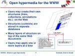 open hypermedia for the www