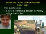 turner and trexler study of darter life history traits
