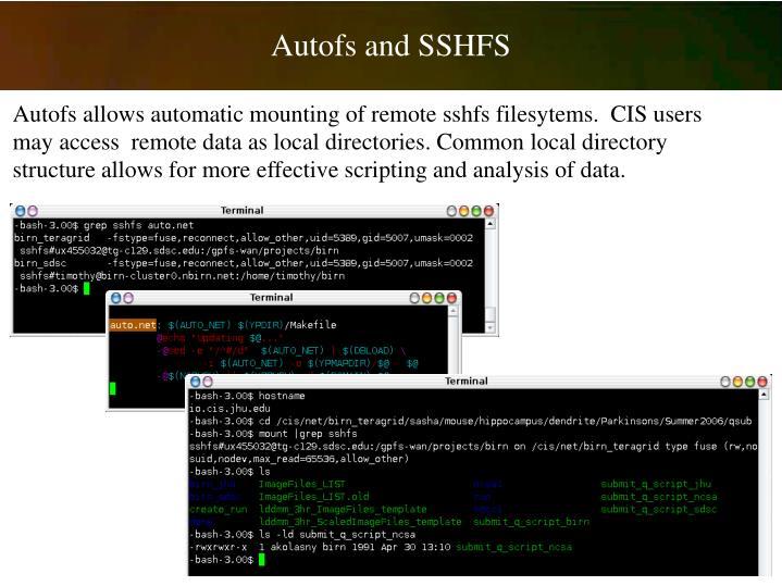 Autofs and SSHFS