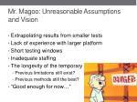 mr magoo unreasonable assumptions and vision