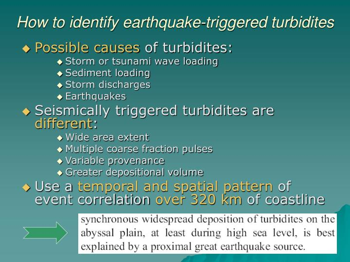 How to identify earthquake-triggered turbidites