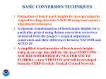 basic conversion techniques