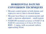 horizontal datums conversion techniques
