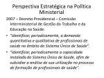 perspectiva estrat gica na pol tica ministerial