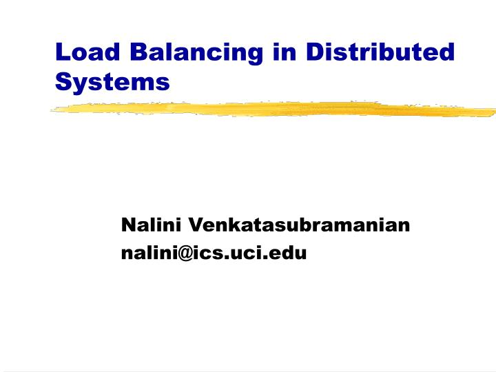 load balancing in distributed systems n.