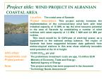 project title wind project in albanian coastal area