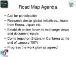 road map agenda