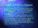 properties of elliptical galaxies