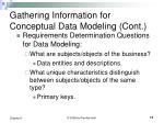 gathering information for conceptual data modeling cont