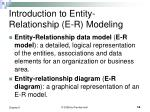 introduction to entity relationship e r modeling