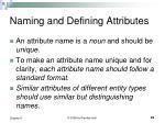 naming and defining attributes