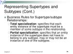 representing supertypes and subtypes cont