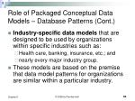 role of packaged conceptual data models database patterns cont