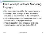 the conceptual data modeling process