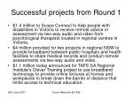 successful projects from round 1