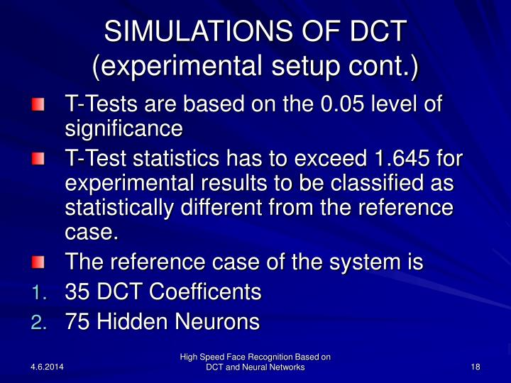 SIMULATIONS OF DCT