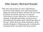 after darwin bertrand russell