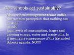 can schools act sustainably