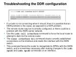 troubleshooting the ddr configuration2
