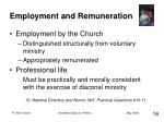 employment and remuneration