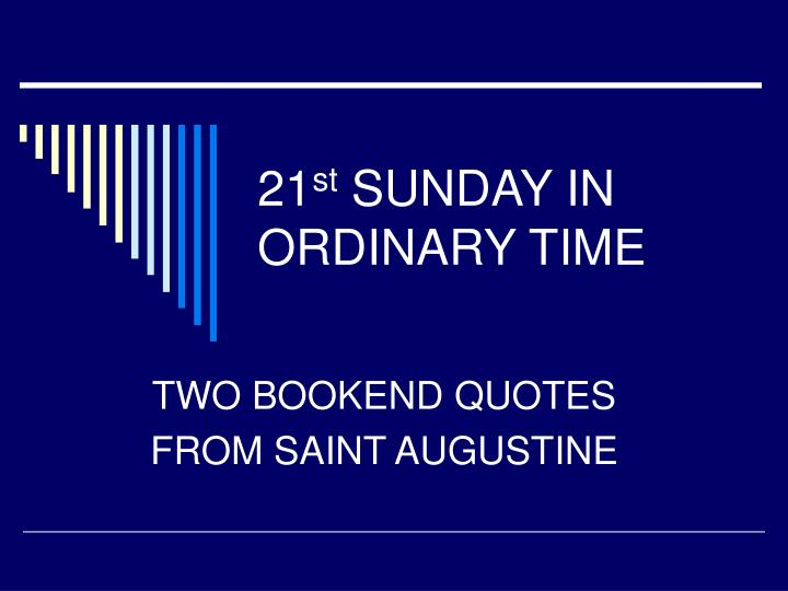 21 st sunday in ordinary time