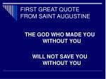 first great quote from saint augustine