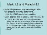 mark 1 2 and malachi 3 11