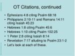 ot citations continued