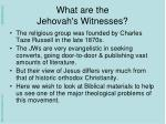 what are the jehovah s witnesses