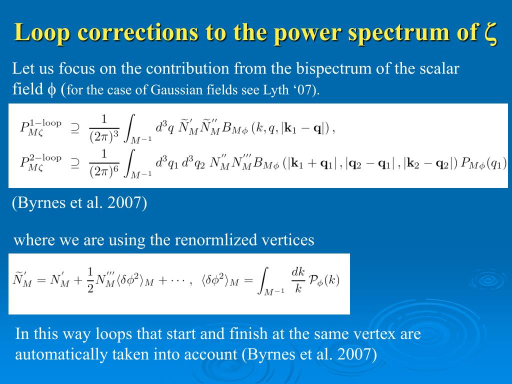 Loop corrections to the power spectrum of