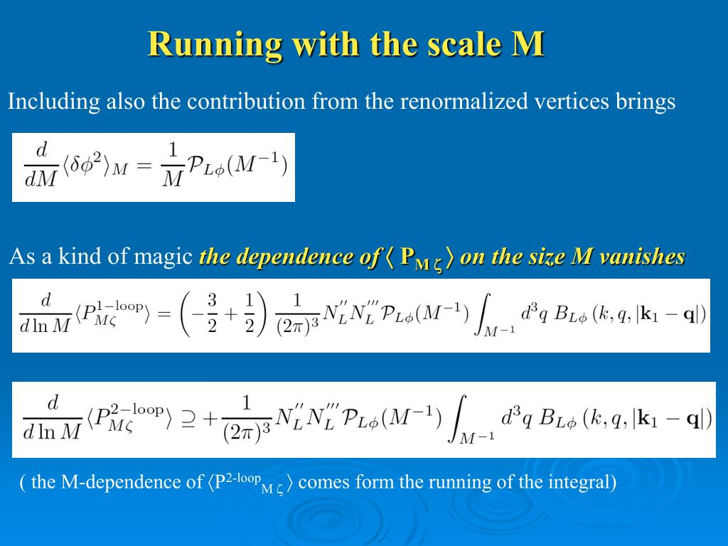 Running with the scale M
