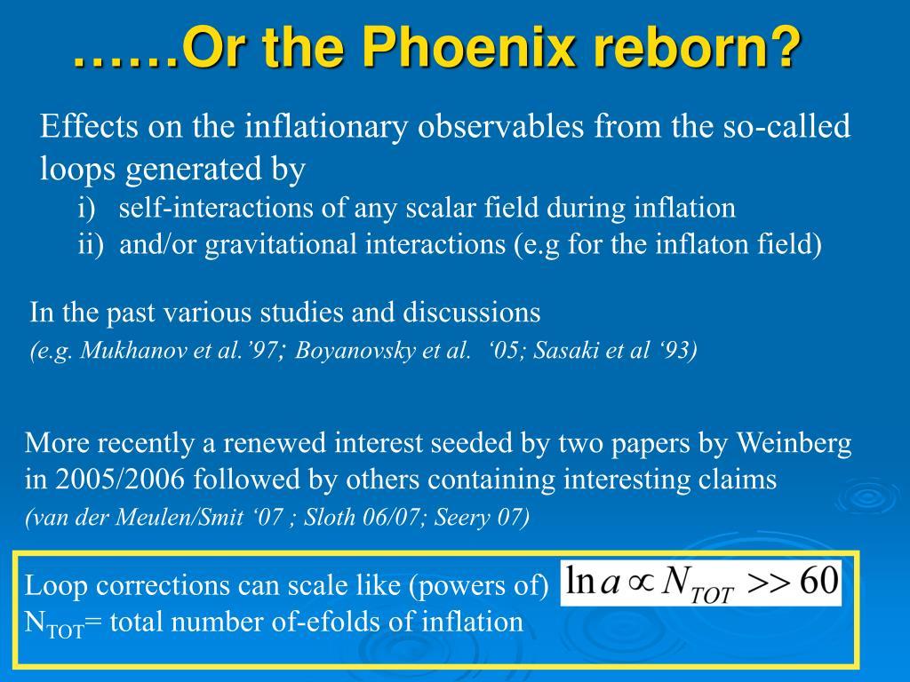 ……Or the Phoenix reborn?