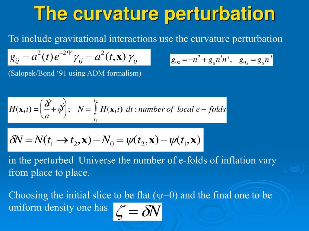 The curvature perturbation
