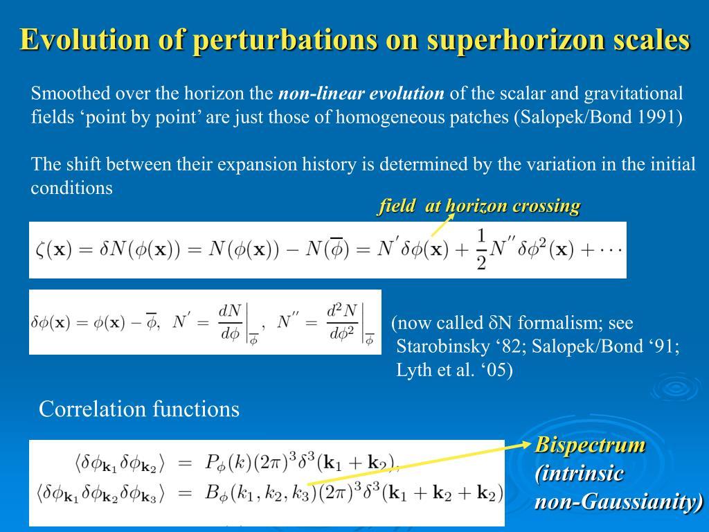 Evolution of perturbations on superhorizon scales