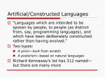 artificial constructed languages