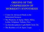origins of the compression of morbidity hypothesis