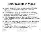 color models in video