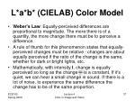 l a b cielab color model