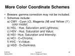 more color coordinate schemes
