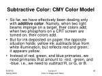 subtractive color cmy color model