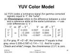 yuv color model