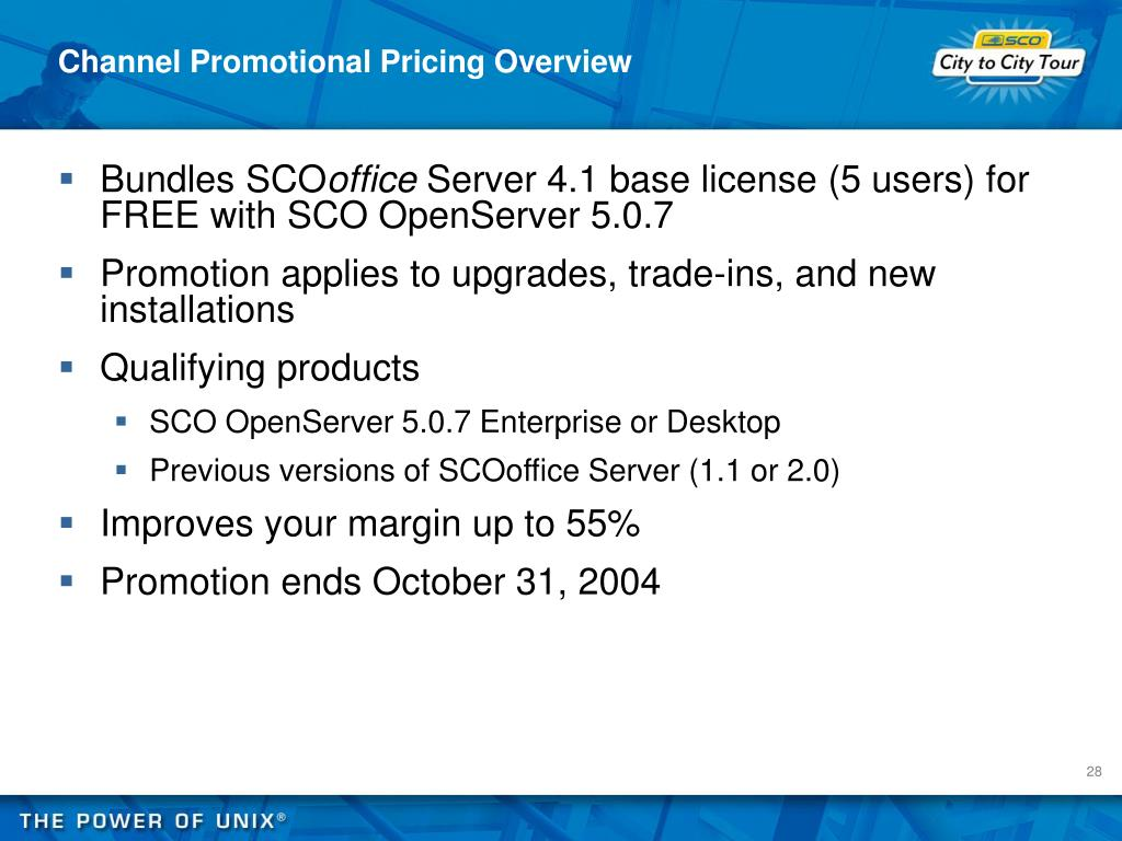 Channel Promotional Pricing Overview