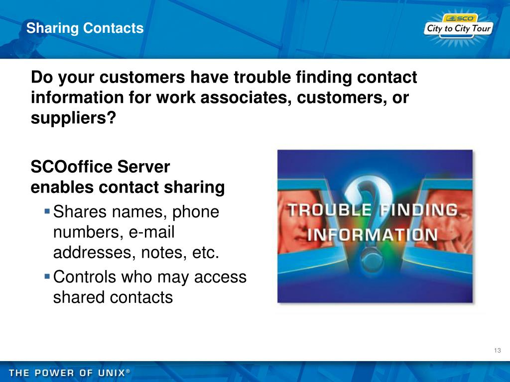 Sharing Contacts