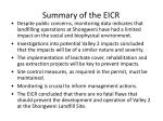 summary of the eicr