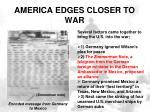 america edges closer to war