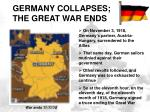 germany collapses war ends