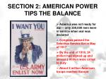 section 2 american power tips the balance